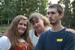 Meg, mamma og lillebror